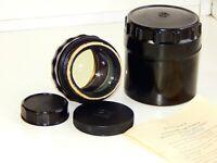 JUPITER-9 2/85 EXPORT BLACK Edition Russian SLR lens (Pentax, Zenit) M42 EXC