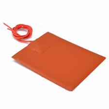 1PC Fast Heating Car Engine Heater Oil Pan Tank Silicone Hot Pad Orange 12V DC
