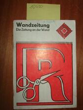 Wandzeitung-Die Zeitung an der Wand, 1977, Kulturagitation, DDR, alte Bücher
