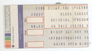 Rare BLACK SABBATH & QUIET RIOT 11/5/83 Philadelphia Spectrum Ticket Stub!
