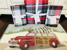 Pottery Barn Declan King Duvet Woody Pillow Euro Shams Christmas Plaid Bedding
