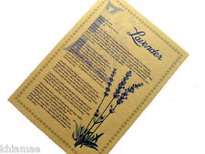 LAVENDER herb parchment book of shadows page poster herbal wicca print art BOS