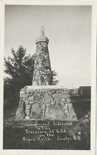 Black Hills SD * Discovery of Gold Monument  RPPC ca. 1920 * Custer
