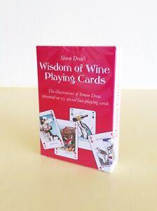 Simon Drew Wisdom of Wine Playing Cards Game Humorous Gift