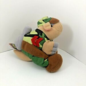 Meanies Beanie Babies Armydillo Dan New With Tags Plush Series 1
