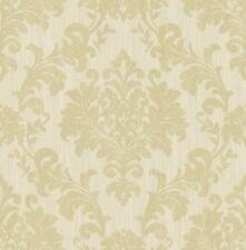 Wallpaper Traditional Gold Glitter Damask on Light Gold Background