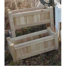 All Maine Bucket D006 36 Inch Planter with Tall Legs - Natural