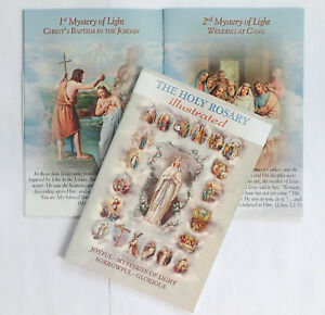 """The Holy Rosary illustrated Paperback Book  6"""" x 4"""" Religious Gift"""