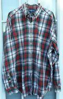 Mens Ralph Lauren L/S Blake Plaid Button-Down 100% Two-Ply Cotton Shirt XL