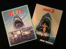 VINTAGE MOVIE PROGRAM LOT-JAWS 2 and JAWS 3D-SHARK WEEK FOREVER