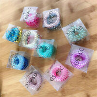 3Pcs Telephone Wire Hair Ties Spiral Hair Head Elastic Bands Accessories