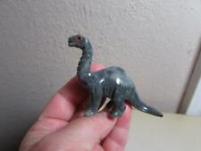 Brontosaurus Dinosaur, Solid Stone Carving Colorful Marble Bronto from the Andes