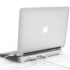 Aluminum Office House 4 Ports USB Super Speed Hub+ Mac Notebook Stand Holder