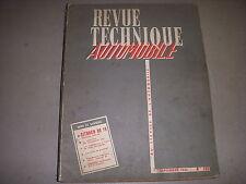REVUE TECHNIQUE AUTO 185 09.1961 CITROEN DS19 DUCELLIER pour MOTEURS PERKINS