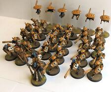 Pro painted Tau armée lot 30 x fire warriors METAL éthérées drones WARHAMMER 40KK