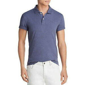 Bloomingdale's Mens Size Small Polo Shirt Slub Jersey Enzyme Wash Classic Fit