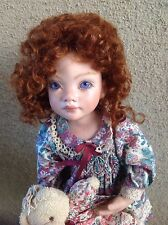 "Auburn Charlotte 7-8"",  by Global Dolls. Shiny New Mohair Doll Wig LIMITED QTY"