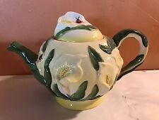 Calla Lily Majolica TEAPOT by Baum Bros.FORMALITIES,large