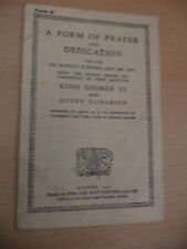 OLD VINTAGE 1930S KING GEORGE VI CORONATION PRAYERS USE BY ARCHBISHOPS PROGRAMME