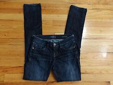 Guess Jeans Britney Blue Dark Wash 5 Pocket Straight Jeans Size 25 27x32.5 J745