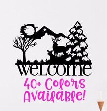 Welcome Sign Wall Decal, Entry Wall Front Door Wall Decal