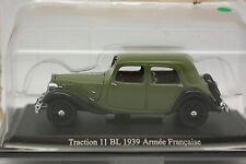 UH et Norev Presse 1/43 - Citroen Traction 11 BL 1939 Armée Francaise