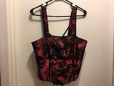 JS Boutique Women's Size US 12 Goth Victoria Faux Corset Tank Top. (E)