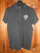 polo manches courtes ED HARDY audigier tigre - noir/rouge - taille M - neuf