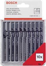 Bosch 10pc T-Shank Jigsaw Blades for Wood - 2607010146 - Swiss Made
