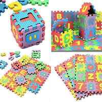 36pcs Alphabet & Numerals Baby Kids Play Mat Educational Toy Soft Foam Mats FS