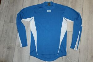 HELLY HANSEN LONG-SLEEVED BASE LAYER TOP L LARGE 100% POLYPROPELENE BLUE