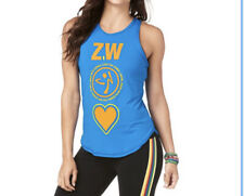Zumbawear MADE WITH ZUMBA LOVE HIGH NECK TANK TRUE BLUE WOMEN SIZE SMALL (Spicy)