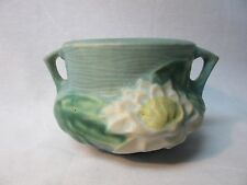 Vintage Green Blue Roseville Pottery Water Lily Vase Jardiniere 663 Waterlily