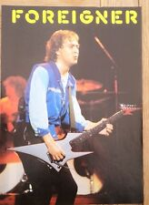 FOREIGNER Mick 'blue shirt' magazine PHOTO/Poster/clipping 11x8 inches