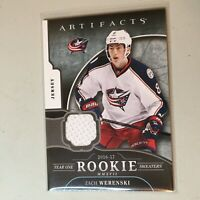 F50034 2017-18 Artifacts Year One Rookie Sweaters Zach Werenski Blue Jackets