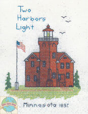 Cross Stitch Kit ~ Historic Lighthouse Two Harbors Light, MN #HD258 OOP SALE!