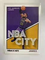 LeBron James 2019-20 Panini NBA Hoops NBA CITY HOBBY ONLY INSERT SP Lakers