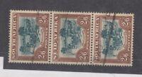 South Africa 1949 2s 6d Strip Of 3 SG121 VFU JK2603