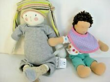 2 Plush Toys Dolls Lovie For Baby Moulin Roty Le Petits Dodos