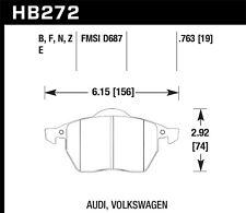 Disc Brake Pad Set-GLS Front Hawk Perf HB272F.763A