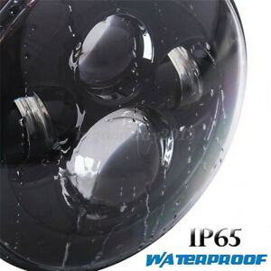 """7"""" 40W E9 H4 LED Motorcycle Headlight Projector Lamp For Harley Land Rover Jeep"""