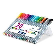 Staedtler Triplus Fineliner 0.3 mm Point Pen Brilliant colors 334 SB20 20 pack