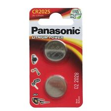 2 x Panasonic CR2025 DL2025 3V Lithium Coin Cell Battery Long Lasting!!