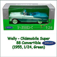 Welly 1955 Oldsmobile  Super 88 Convertible Diecast 1:24 scale,  Two Tone Green