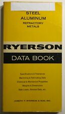 RYERSON DATA BOOK Steel, Aluminum, & Refractory Metals VTG 1965 Reference Manual