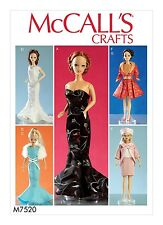 SEWING PATTERN! MAKE 11.5 INCH DOLL CLOTHES! FANCY DRESSES~SUIT~COAT FIT BARBIE