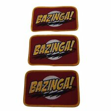 The Big Bang Theory Bazinga! Embroidered Patch Set of 3