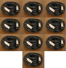 10 Lot - 50Ft XLR 3Pin Male Female Mic Microphone Extension Audio Shielded Cable