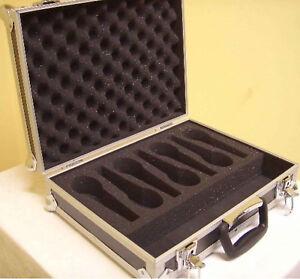 PROFI Mikrofon Koffer für 7 Mikrofone, Mikro Box Kiste Flight Case 40x31x13 cm