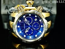 Invicta Men's 52mm VENOM Swiss Chronograph Blue Dial 18K Gold Plated SS Watch
